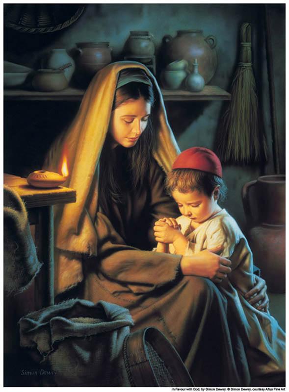 Jesus-Praying -Mother-mormon