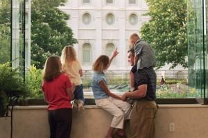 Mormon Temple Family