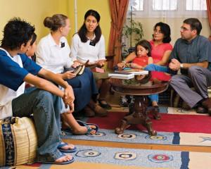 Mormon Missionaries Teaching