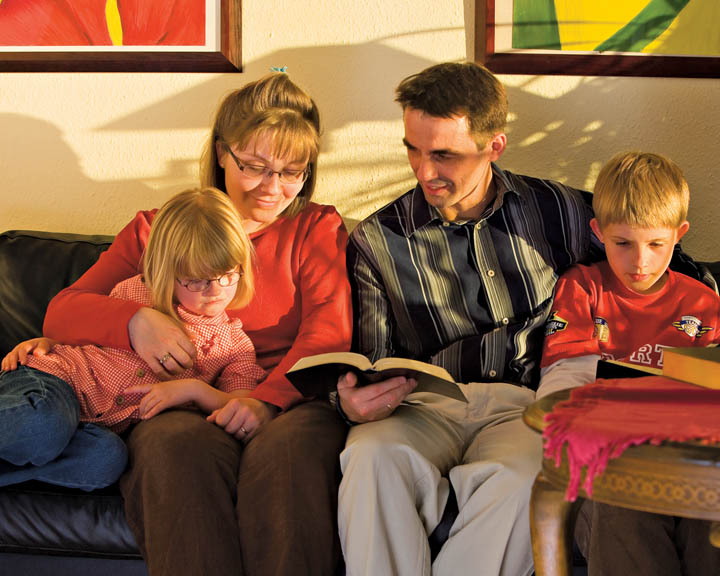 Mormon Family Scripture Reading