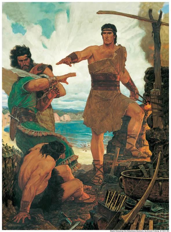 Zur Zeit des Propheten Jeremia: Nephis Brüder trauen sich nicht, Hand an ihn zu legen.