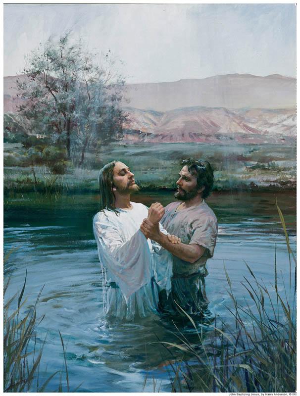 John Baptist Baptism Jesus Mormon