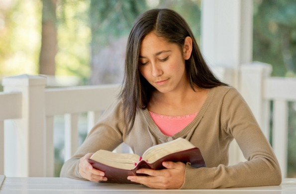 scripture study young woman