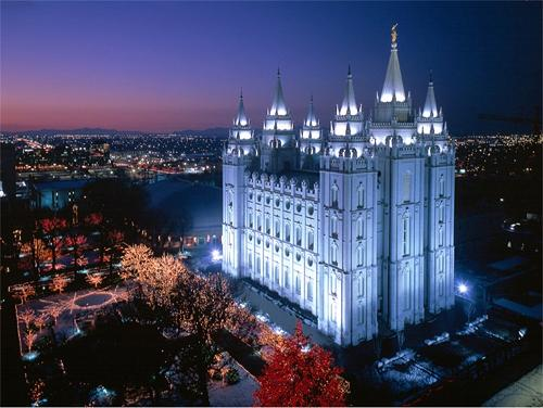 What is the Statue on Top of Mormon Temple?