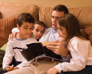 Mormon Father Teaching his Children