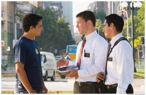 Mormon Missionaries Teaching