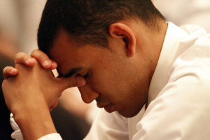 Mormon Man praying