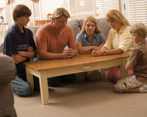 Mormon family prayer