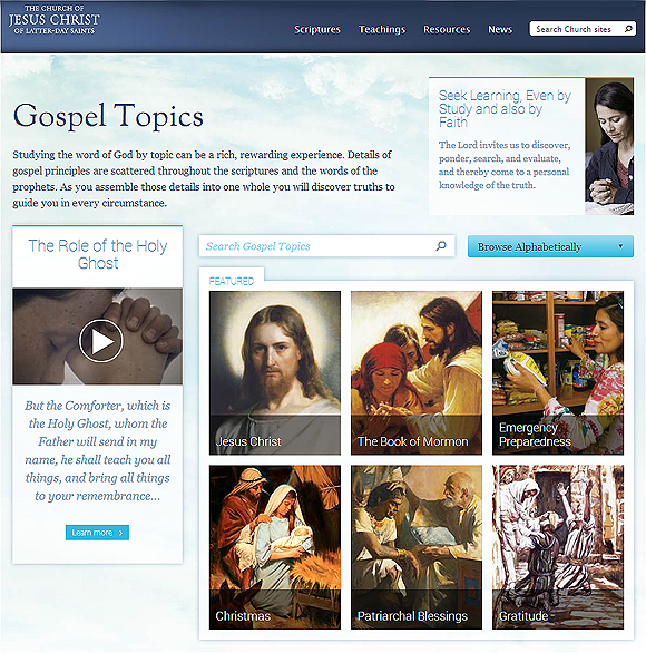 Mormons Making Important Changes to Doctrinal Topics Pages