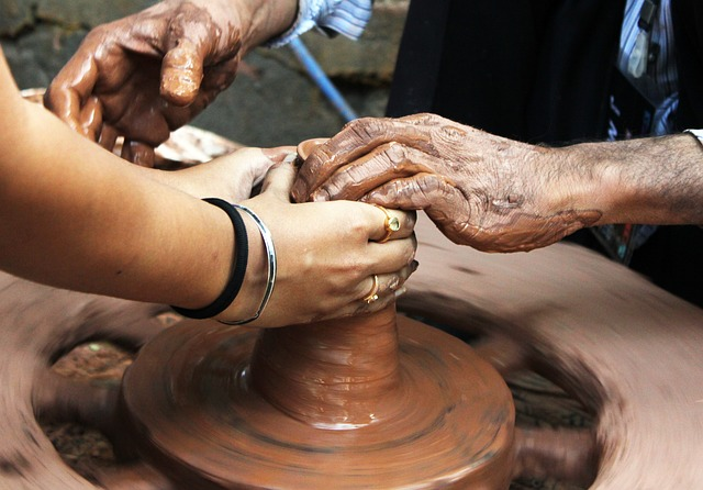 Set a new goal. People making pottery