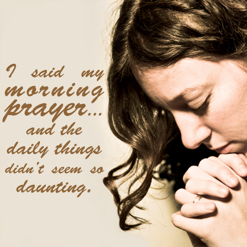 Morning Woman Praying
