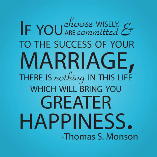 Marriage brings happiness