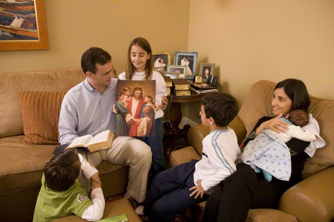 family studying about Jesus