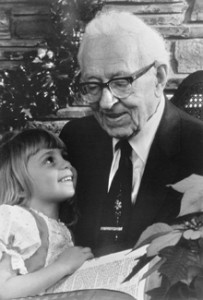 Joseph Fielding Smith with great-granddaughter Shauna McConkie