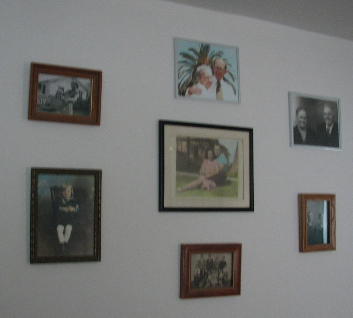 pictures of ancestors on wall