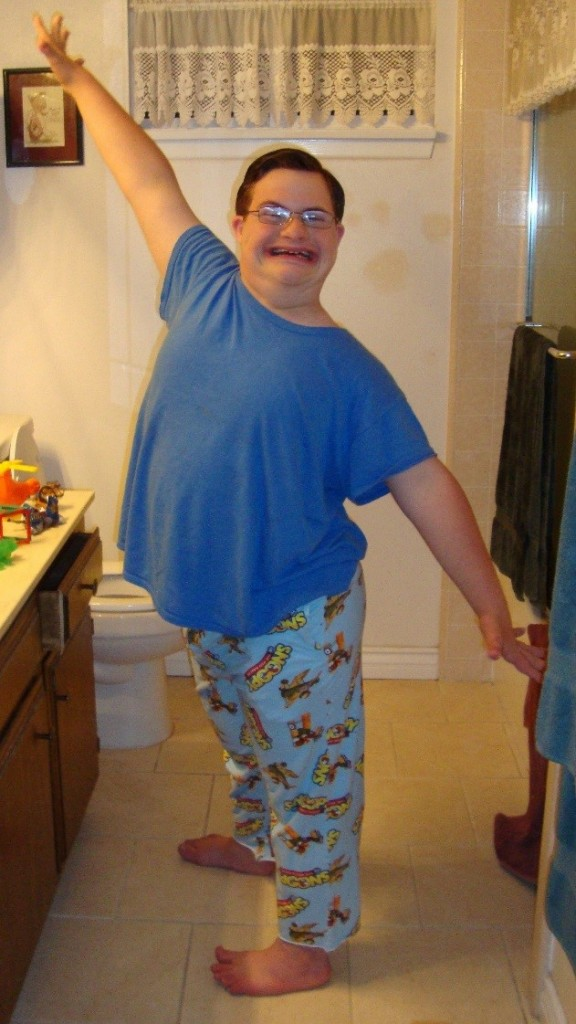 Boy who has Down Syndrome--Glory Me!