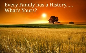 Every family has a history Christine Bell