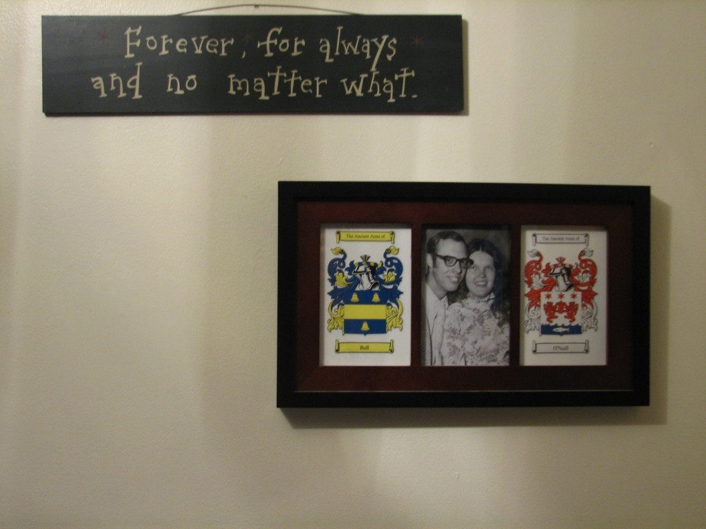 hang family treasures on wall