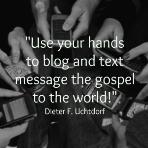 Use your hands to blog and text the gospel.