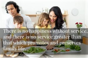 Family life is the greatest service.