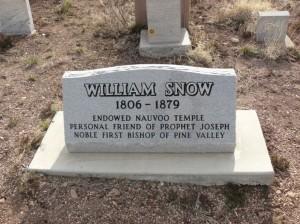 William Snow Gravestone