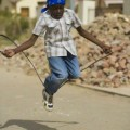 boy jumping rope