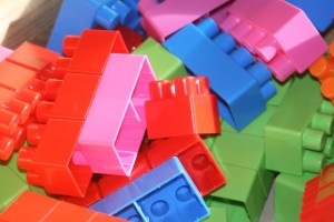 building blocks on floor