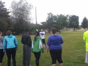 playing softball in the rain