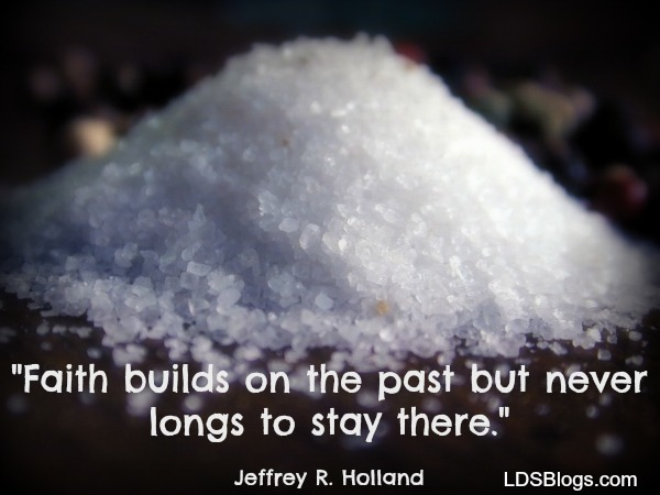 faith builds on the past