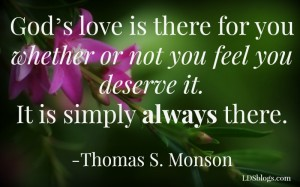God's love is there for you always.
