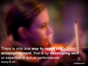 Developing skill takes practice