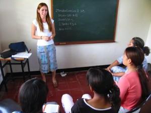 LDS teenager teaching her peers