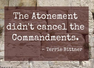 The atonement didn't cancel the commandments.
