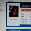 Ashley's profile on dating site