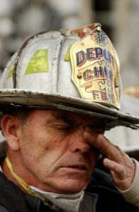 Firefighter at Twin Towers