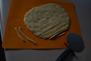 cut and rolled pasta dough