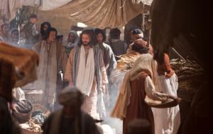 Jairus approaching Jesus for help
