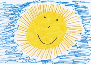 child's drawing of a sun