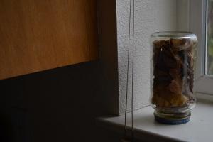 jar on windowsill
