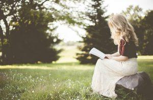 girl woman reading