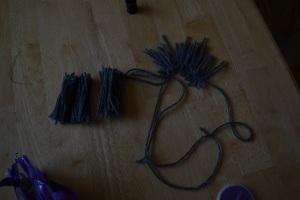 Yarn for making beard
