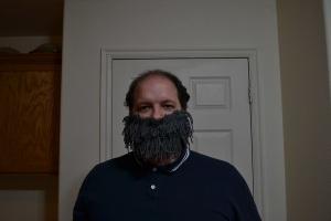 Homemade yarn beard