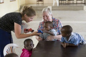 Women serving in humanitarian program