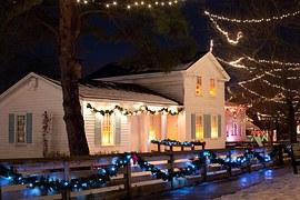 House lit for Christmas