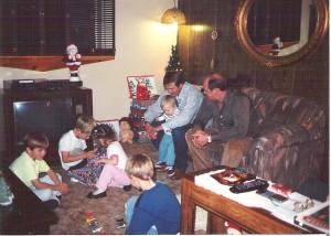 Family at Christmas Ashley