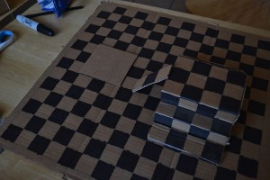 Making your own chess game board