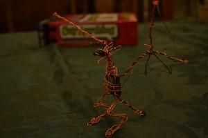 making a wire dragon