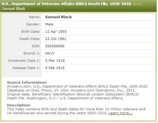 genealogy record
