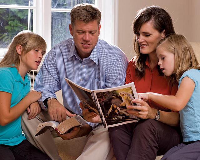 mormon family reading
