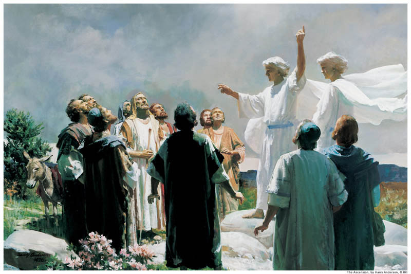 LDS art ascension of Christ